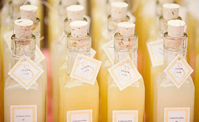 limoncello wedding favor