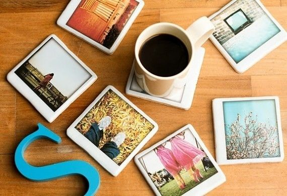 instagram coaster wedding favors