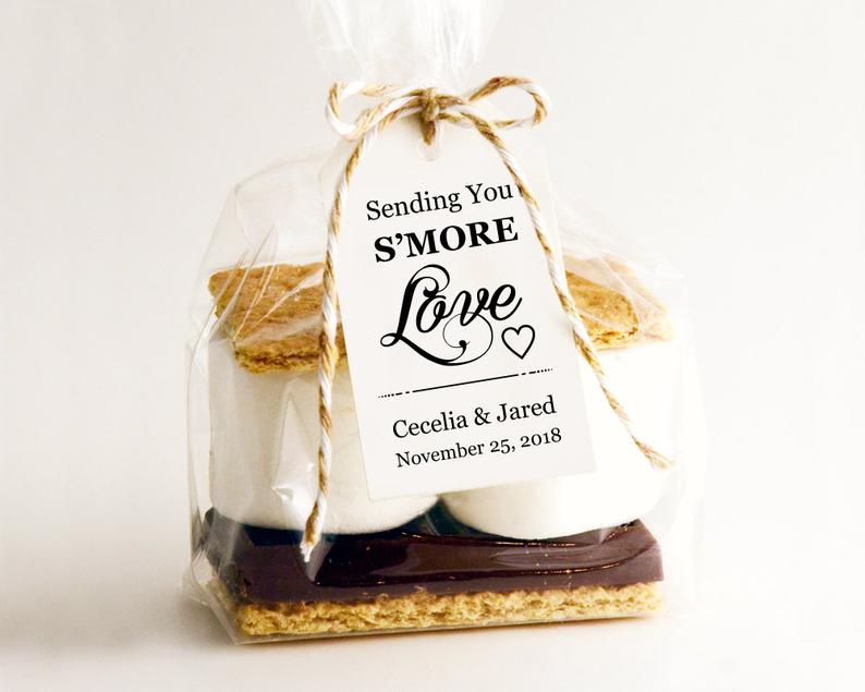 s'mores kits wedding favor