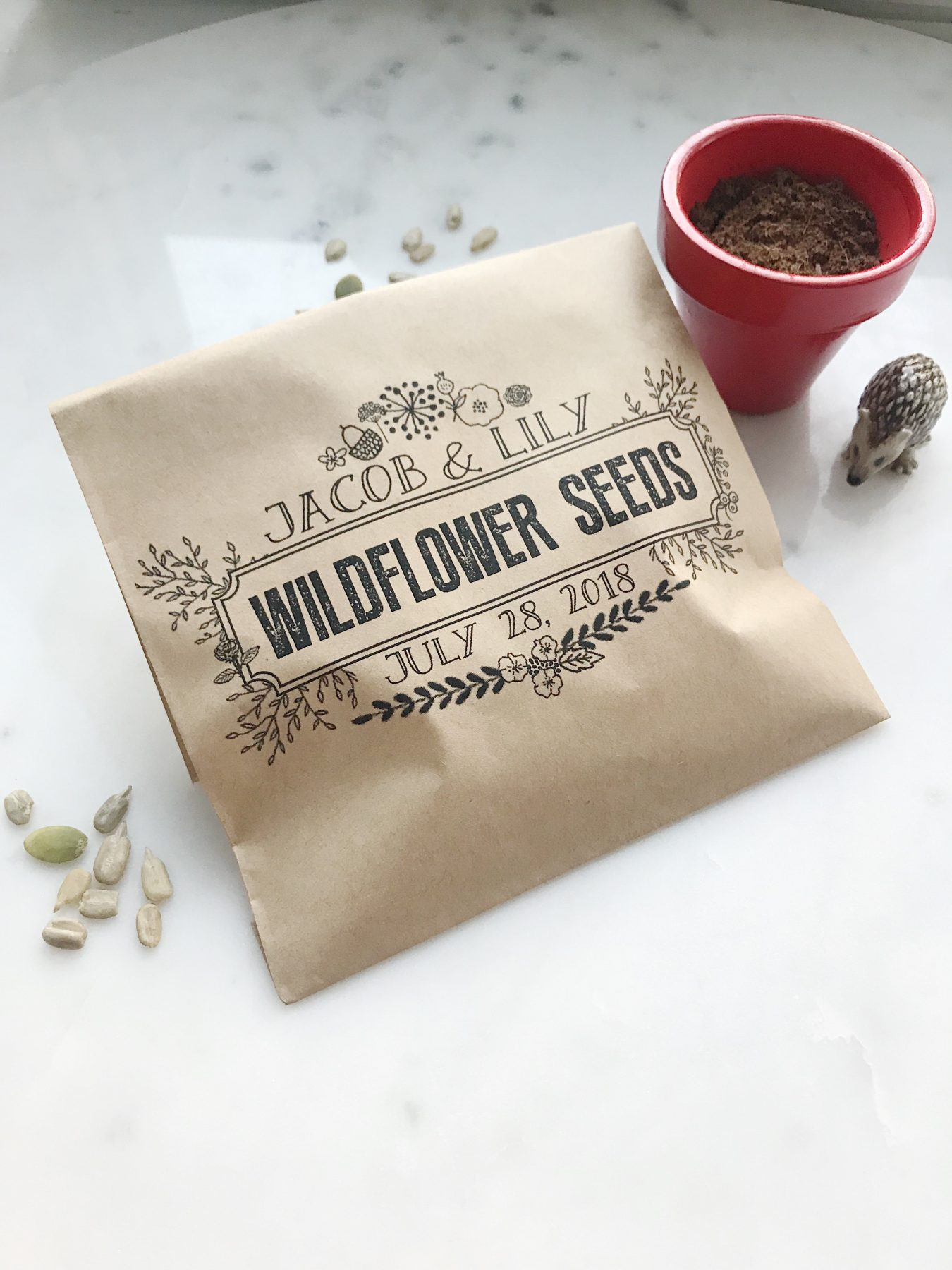wildflower seeds wedding favor