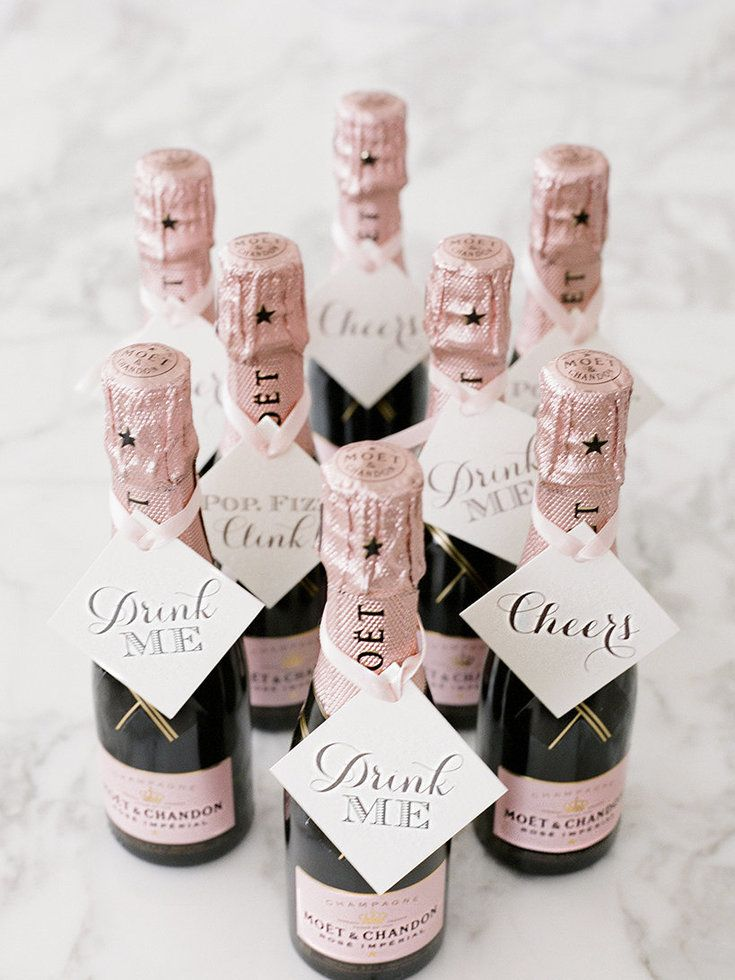 champagne bottle wedding favors