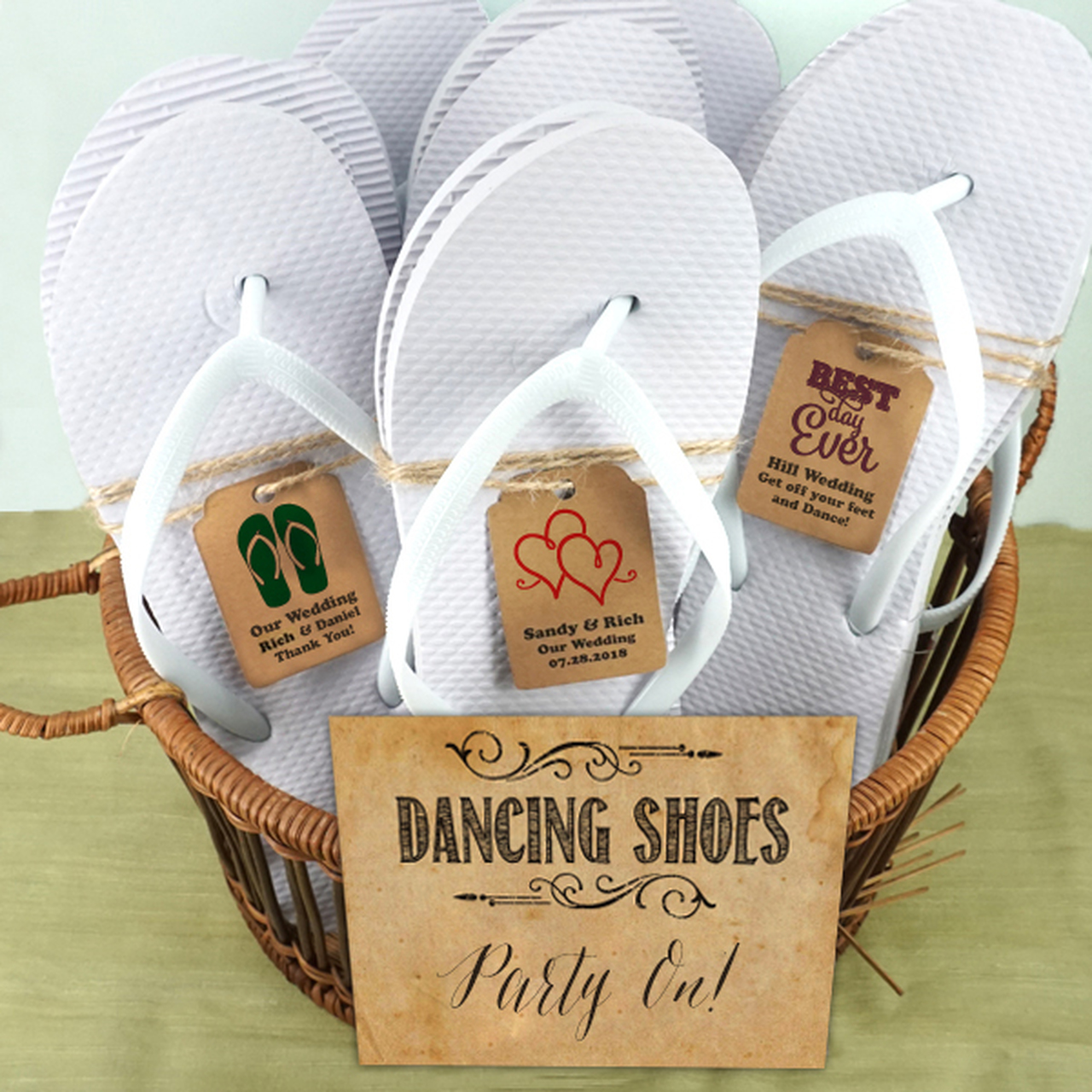flip flops wedding favors