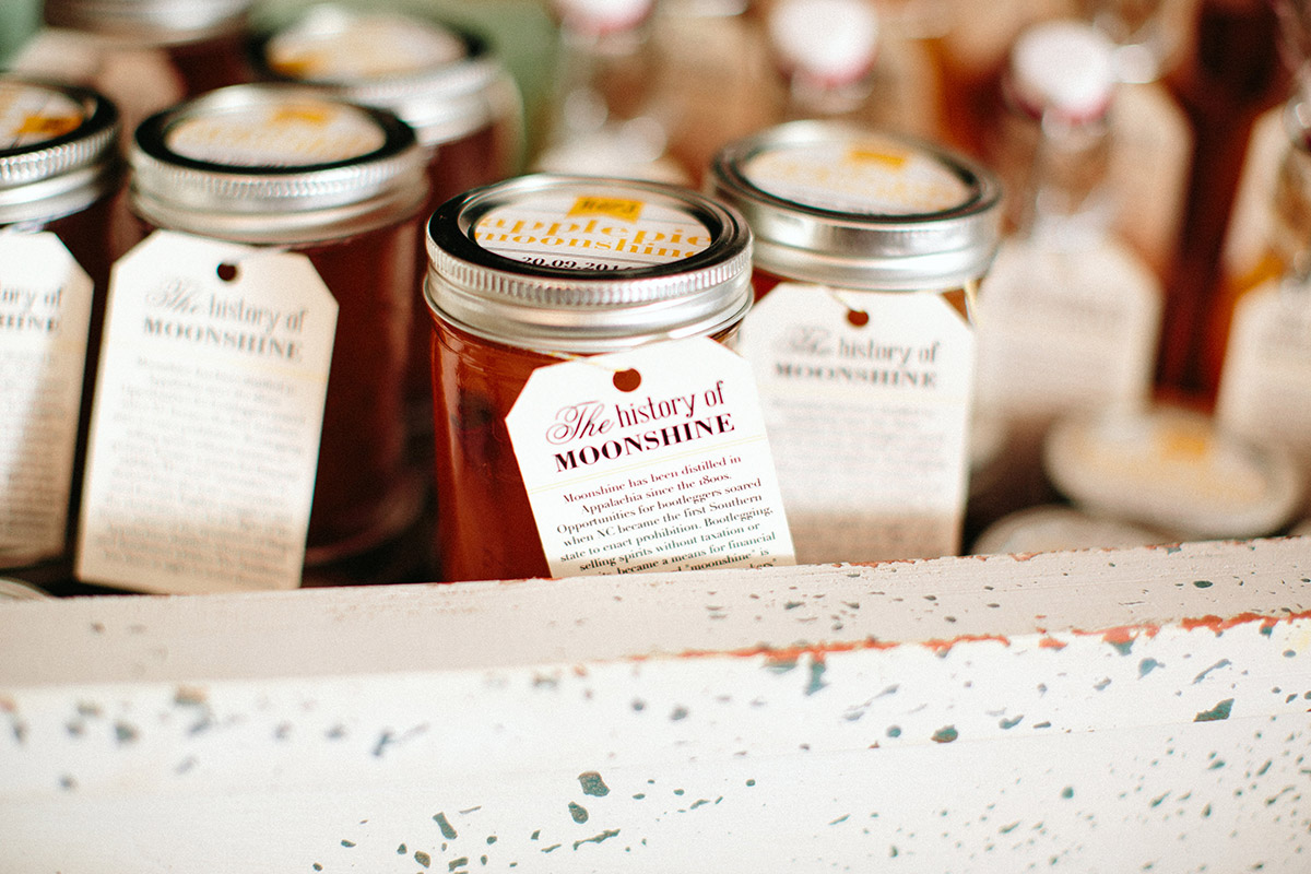 mason jar moonshine wedding favors