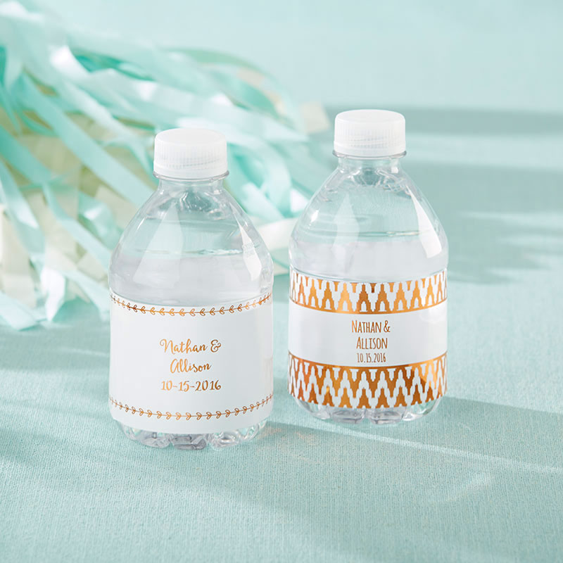wedding favor water bottles