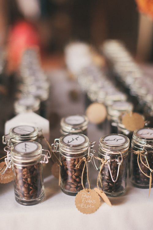 coffee beans wedding favors