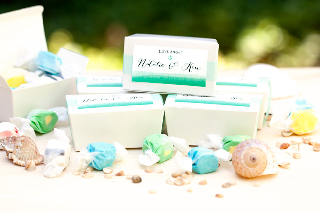 salt water taffy wedding favors