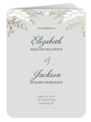 classic wedding program template Shutterfly