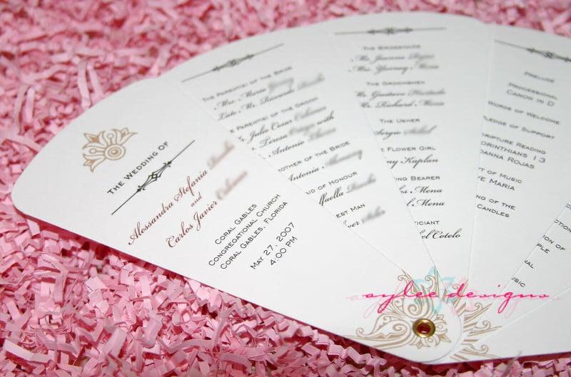 fan wedding program template