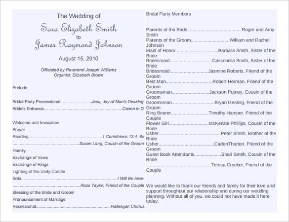 14 Wedding Program Templates You Can Customize Online