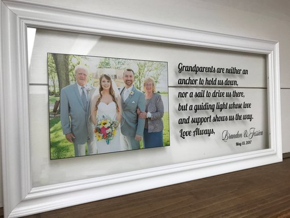 grandparents thank you wedding frame