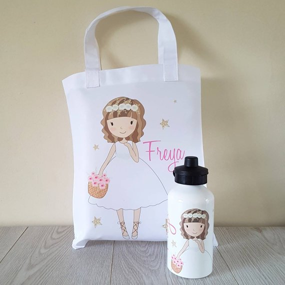 Water Bottle & Custom Bag Set