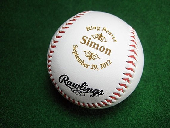 thank you personalized baseball