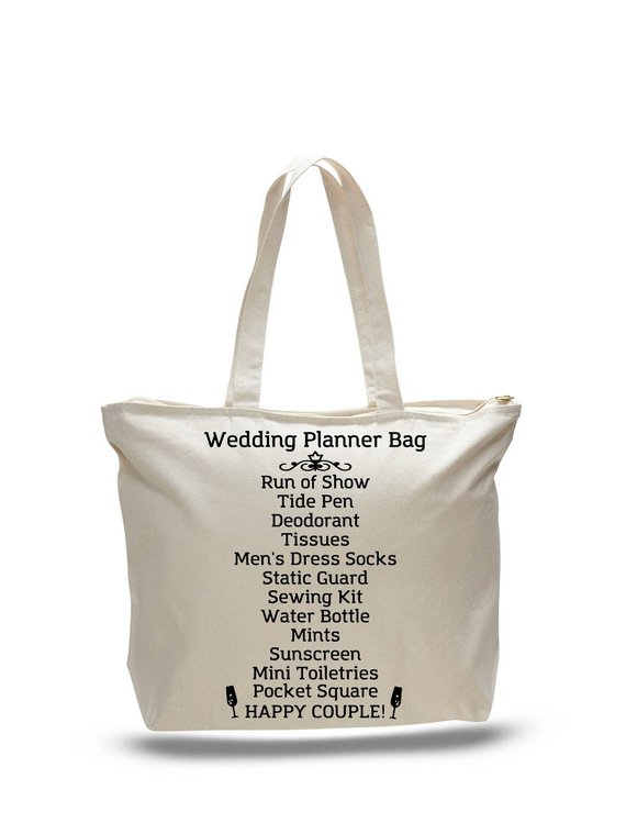 wedding planner tote bag