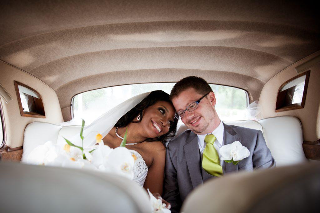 Limo wedding day transportation