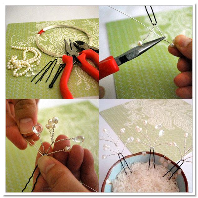 Blossoming Bridal Hair Pins Tutorial