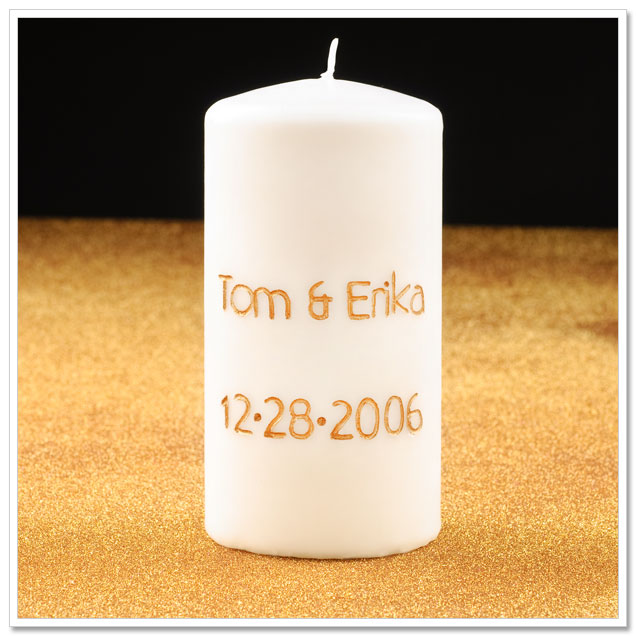 DIY Project: Engraved Wedding Candle