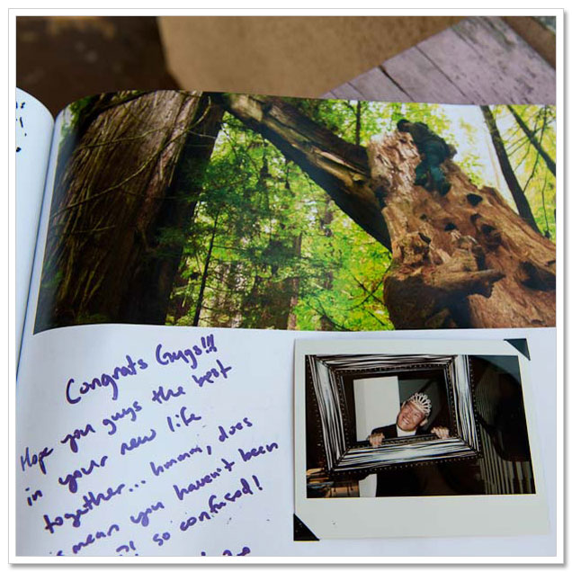 DIY Wedding Guest Books with Instant Film