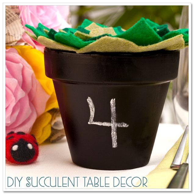 DIY Project: Felt Succulent Table Decor