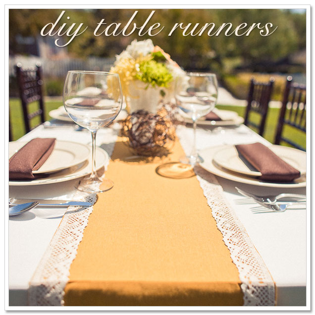 DIY Table Runners