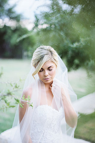 Simple and classic natural light Texas Hill Country bridal portraits on film by Anne Brookshire Photography