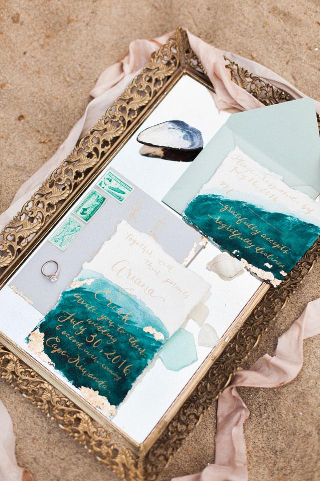 A bridal inspiration shoot on Cape Kiwanda Beach with a siren of the sea theme by Ava Maria Photography