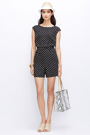 Petite Polka Dot Romper   What to Wear to a Casual Beach Wedding: Rompers