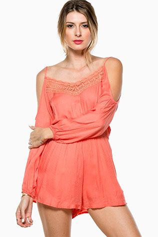 Fern Open Shoulder Romper   What to Wear to a Casual Beach Wedding: Rompers