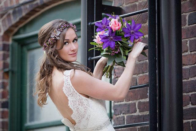 A sweet bridal inspiration shoot with an English Mastiff | Erin Costa Photography: http://erincostaphoto.com