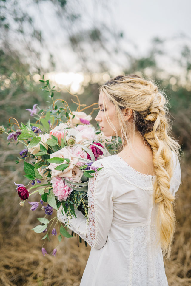 A beautiful floral bohemian vintage bridal inspiration shoot in the celery fields of Sarasota by Everence Photography