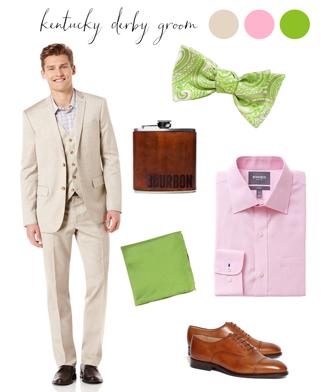 Kentucky Derby Inspired Groom: Men's Style in Khaki, Pink and Apple Green
