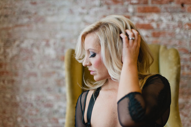 A sexy and playful boudoir shoot in a light and airy loft by Meredith McKee Photography