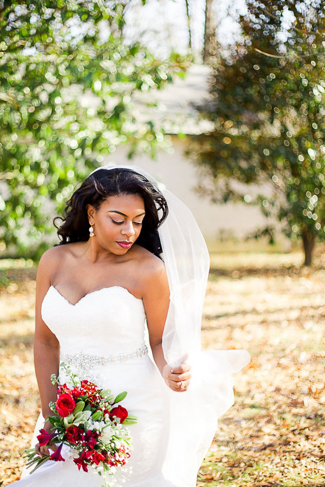 Gorgeous and glam bridal portraits in Atlanta at the W at Jonesboro by Shannon Ford Photography