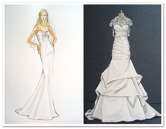 Win a Custom Wedding Dress Illustration by Forever Your Dress!