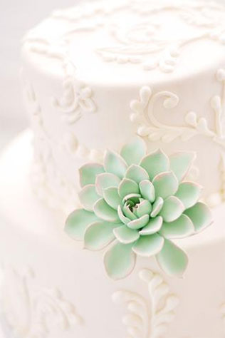 Clay Succulent Cake Topper | 5 Handmade Succulent Goodies to Include in Your Wedding