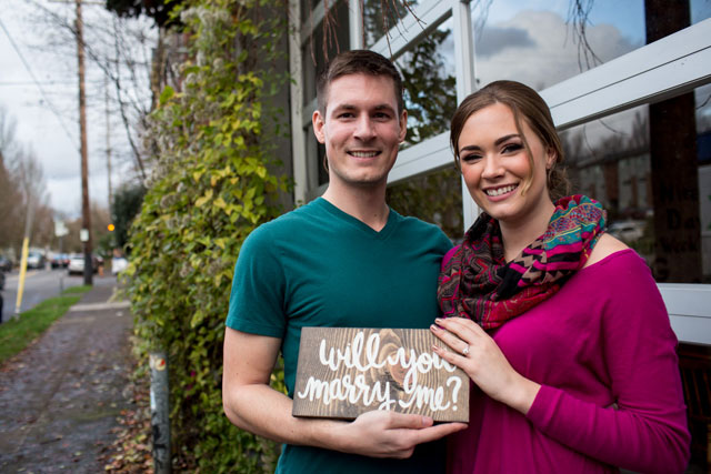 A Pacific Northwest urban winery wedding styled shoot turned surprise proposal by A Lovely Day Photography