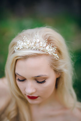 A richly hued and moody enchanted rose garden wedding styled shoot inspired by Sleeping Beauty by Amber Cather Photography