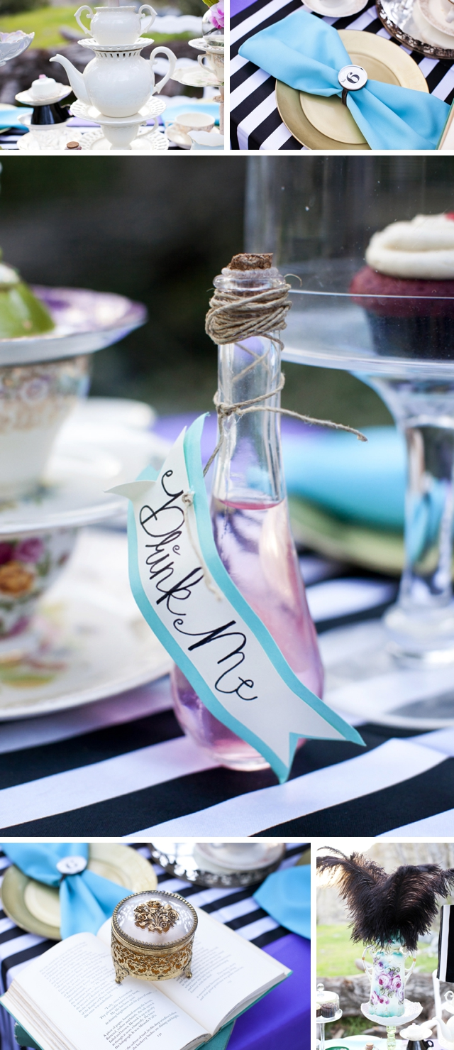 Mad Hatter Bride Styled Shoot by Alyssa Marie Photography on ArtfullyWed.com