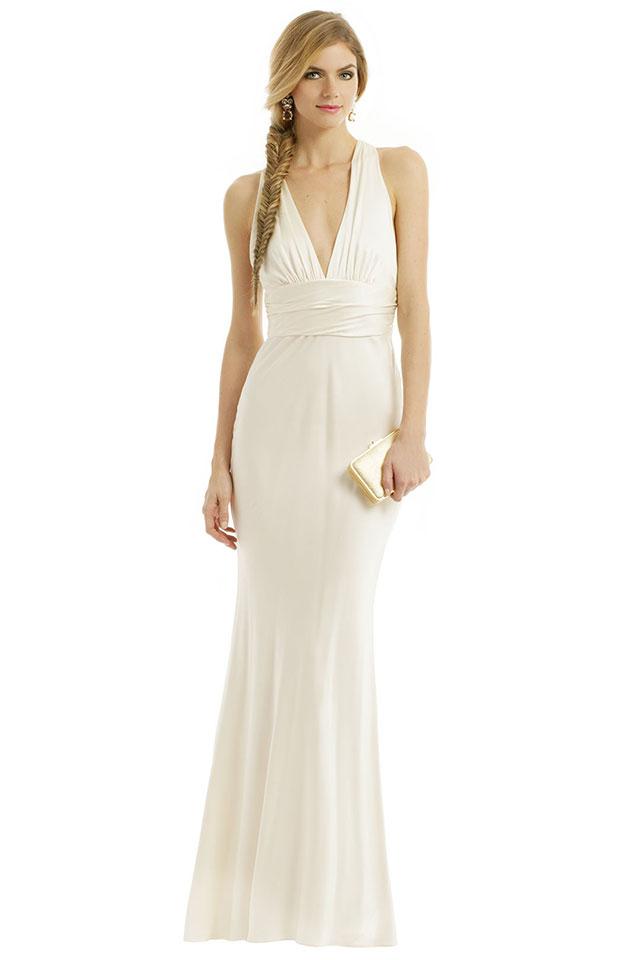 Nicole Miller Monroe Twist Gown | Ideas for a Glam Art Deco Wedding