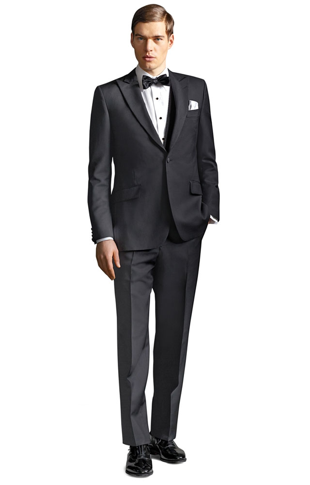 The Great Gatsby Collection Peak Lapel Tuxedo | Ideas for a Glam Art Deco Wedding