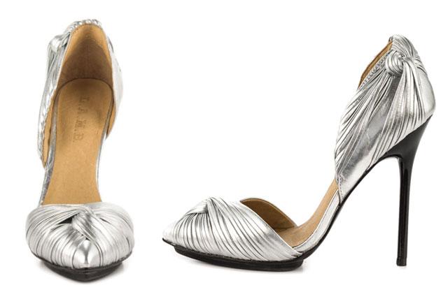 Warner - Silver Metallic by L.A.M.B. | Ideas for a Glam Art Deco Wedding