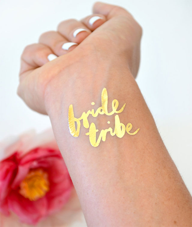 Bachelorette Party Metallic Tattoos by DAYDREAMPRINTS | Etsy Find of the Week