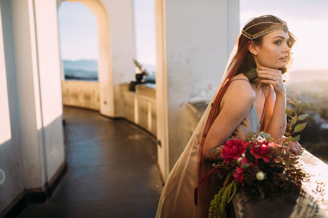 Old Hollywood glamour and art deco inspiration at Griffith Observatory by Betsy Newman Photography and Romance and Revelry Weddings and Events