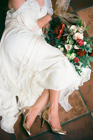 A romantic, candlelit bridal fashion shoot at an historic monastery in Miami | Bluespark Photography: http://bluesparkphotography.com