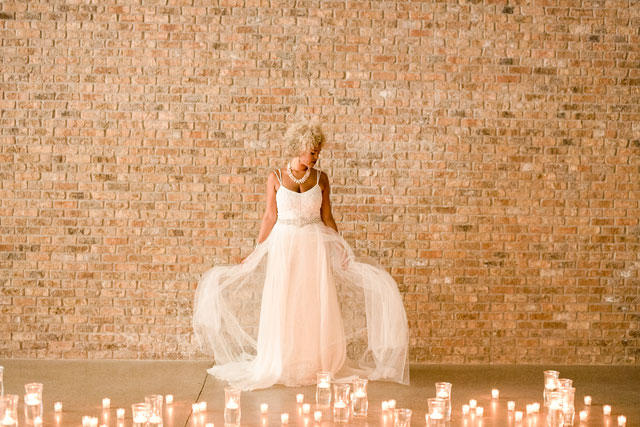 An edgy wedding styled shoot that portrays the bride as a rock princess by Brittany Jean Photography