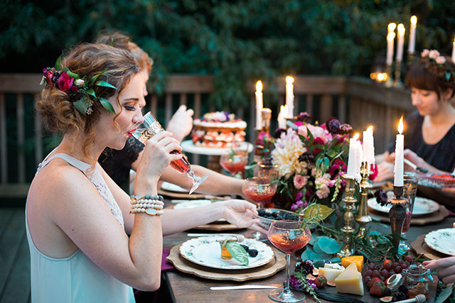 A Shakespearean engagement party inspired by A Midsummer Night's Dream by Brittny Rene Photo and Video and Gold Leaf Floral