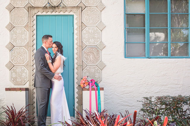 A modern and vibrant watercolor styled shoot at a historic Florida setting by Captured by Elle Photo + Video