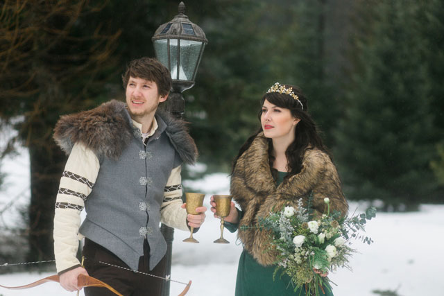 A Narnia inspired elopement styled shoot featuring elements from The Lion, The Witch and The Wardrobe by Charlotte Allegra Photography and snowberry event + design