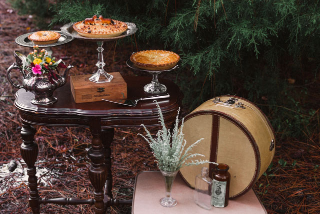 A Wes Anderson inspired enchanted woodland styled shoot in rich fall colors by Chelsea Renay and Runway Events