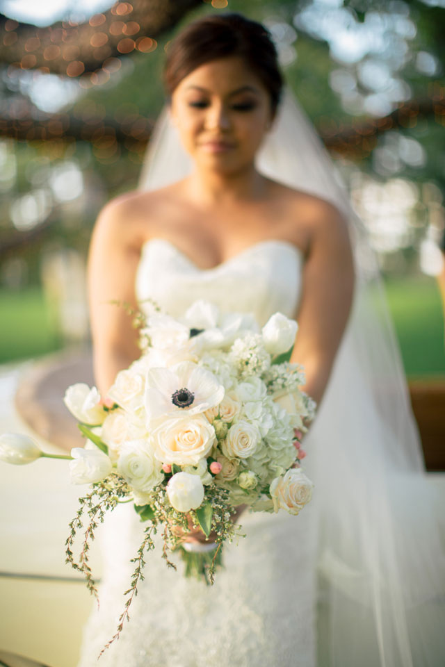 A decadent vintage wedding inspiration shoot on Maui at a Hawaiian plantation house and estate | Chris J. Evans Photography: http://www.cjevansphotography.com