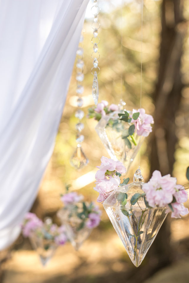 Romantic floral arrangements and whimsical woodland details are the focus of this My Deer One styled shoot from Convey Studios